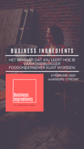 Business Ingredients: het foodbloggers seminar