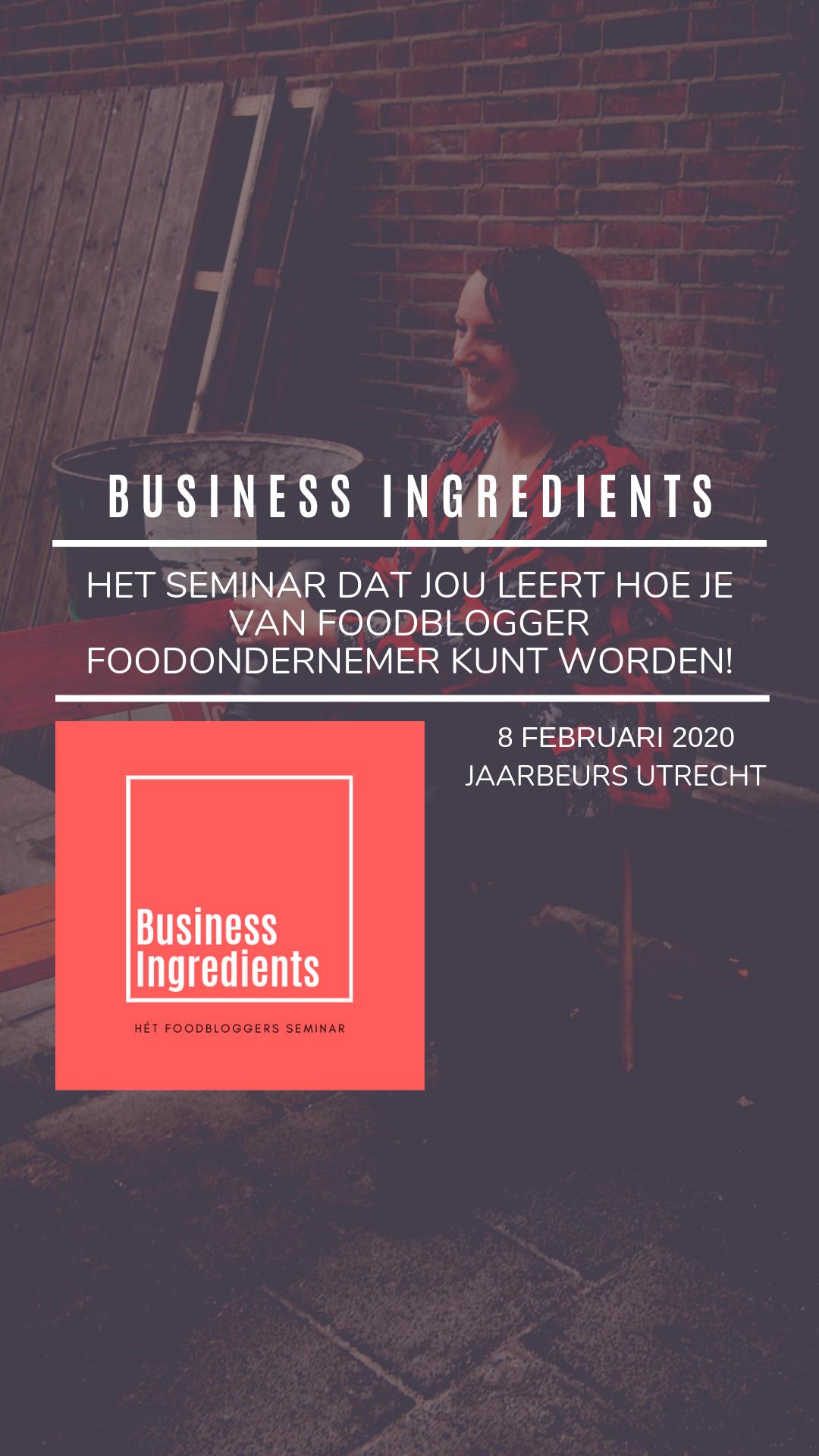Business Ingredients: het foodbloggers seminar